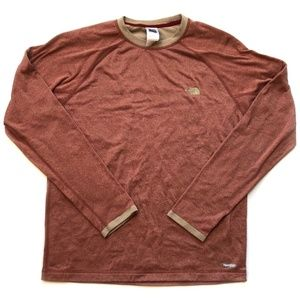 The North Face red crewneck sweater vaporwick S